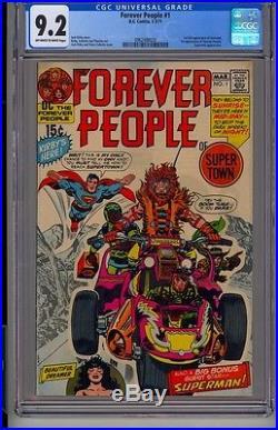 Forever People #1 CGC 9.2 OWW 1st Full app. Darkseid 2-3/71 Superman Batman