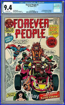 Forever People #1 CGC 9.4 DC 1971 1st Darkseid! Superman! Jack Kirby! H11 124 cm