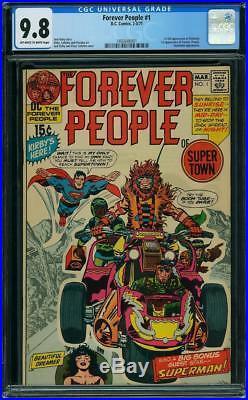 Forever People #1 CGC 9.8 DC 1971 1st Darkseid! Superman! New Case! G9 141 cm