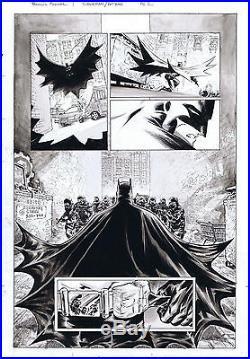 Francis Manapul BATMAN SUPERMAN original art page Inkwash Trinity Flash Legion