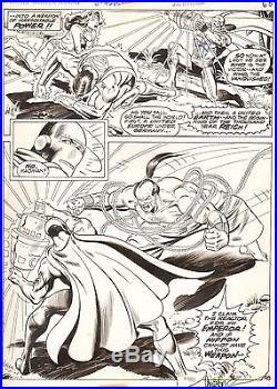 Garcia-Lopez SUPERMAN vs WONDER WOMAN Original DC Comic Book Bronze Art 1977