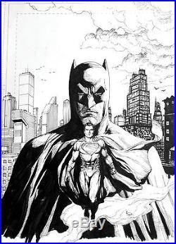 Gary Frank Batman v Superman Original Comic Art. Ben Affleck, Henry Cavill