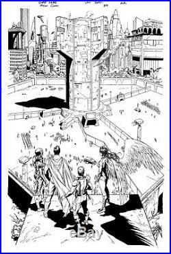 Gary Frank & Jon Sibal Superman Legion of Superheroes Original Comic Art 859 p22