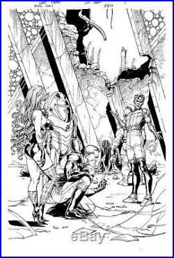 Gary Frank & Jon Sibal Superman Legion of Superheroes Original Comic Art 860 p1