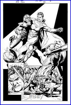 Gary Frank & Jon Sibal Superman Legion of Superheroes Original Comic Art 860 p6