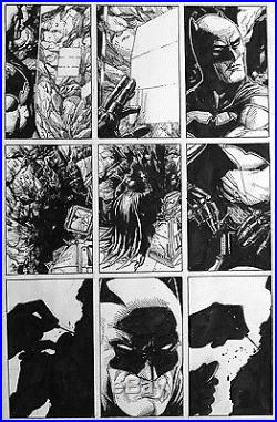 Gary Frank Rebirth Original Comic Art #1 p51. Batman, Flash, Superman, JLA
