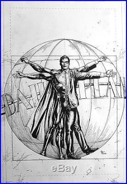 Gary Frank Superman Action Comics Cover Original Comic Art #964