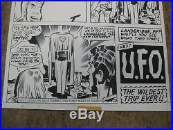 JACK KIRBY Original Comic Art Kamandi #29 pg 20 last page Superman tie in 1975