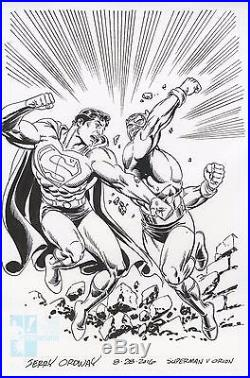 JERRY ORDWAY Superman & Orion Kirby4Heroes Wake Up and Draw original drawing