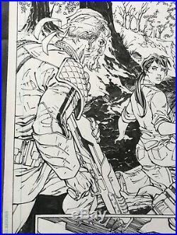 JIM LEE Original Art SIGNED Scott Snyder SUPERMAN UNCHAINED page sketch batman 1