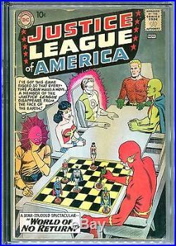 Justice League Of America #1 Cgc 3.5 Flash Wonder Woman Batman Superman 1960