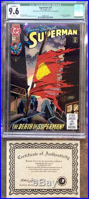 Jerry Siegel Signed Superman #75 Cgc 9.6! Dynamic Forces Certified