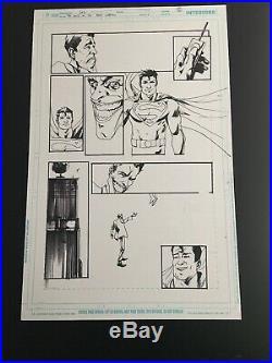 Jock Joker Original Art Adventures Of Superman #14 Page 5 Original Art