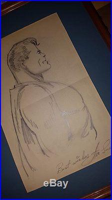 Joe shuster superman sketch