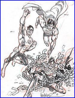 Jose Garcia-lopez 2017 DC Style Guide Art-superman, Green Lantern! Free Shipping