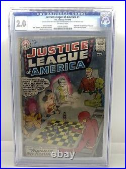 Justice League of America # 1 (1960) CGC 2.0 Batman, Superman Flash Wonder Woman