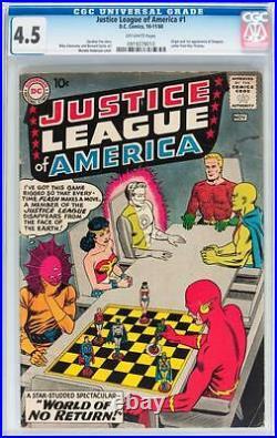 Justice League of America #1 CGC 4.5 1960 JLA Superman Batman D12 910 cm bo