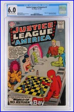 Justice League of America #1 CGC 6.0 FN DC 1960 Flash, Batman & Superman