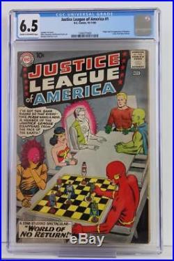 Justice League of America #1 CGC 6.5 FN+ DC 1960 Flash, Batman & Superman