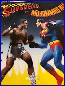 Limited Edition #131 of 2000 superman vs muhammad ali figure