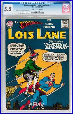 Lois Lane #1 CGC 5.5 1958 DC Superman's Girlfriend RARE book! C9 702 cm