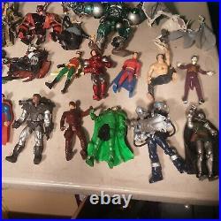 Lot of DC & Marvel Action Figures Superman, batman spiderman mecha hulk