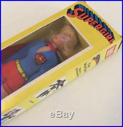 MEGO SUPERGIRL DEAD MINT IN BOX 8 SILK SCREEN 100% ALL ORIGINAL SUPERMAN