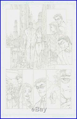 Michael Turner Original Supergirl Artwork Superman / Batman Issue 9 Page 14