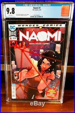 NAOMI #1 CGC 9.8 1ST PRINT DC WONDER COMICS SUPERMAN NM Bendis 1ST NAOMI L@@K