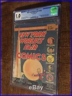 New York WorldS Fair Comics 1939 Cgc 1.0 1st Pub Sandman Blonde superman Cover