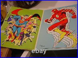 Nice 1979 DC COMICS SUPER HEROES GIANT POSTER BOOK 13.5x 20