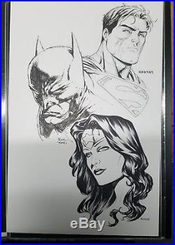 Original Sketch Commission Batman Wonder Woman Superman Finch Kirkham McKone