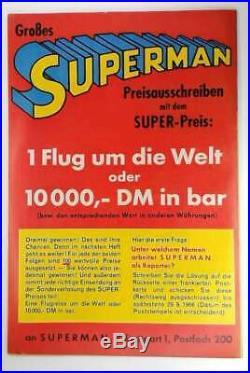 Original Superman Heft Nr. 1 1966 Z 2- Ehapa Verlag