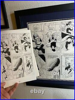 Original comic art by Frank Quitely artist All Star Superman artwork comic books