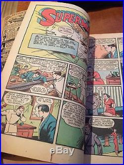 Rare 1939 Golden Age Action Comics #21 Classic Superman Rocket Cover Complete