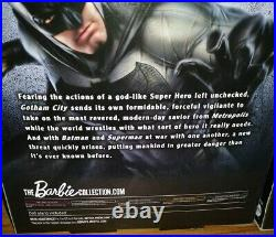 RARE Batman v Superman Action Figures Dolls BARBIE BLACK LABEL Dawn of Justice