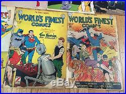 Rare Golden Age Batman 40,43 Joker Penguin Action Comics Superman World's Finest