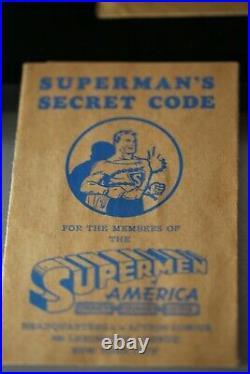 RARE ORIGINAL SUPERMAN SUPERMEN OF AMERICA MEMBERSHIP KIT Fan Club