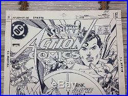 RARE Original Gil Kane Superman in Action Comics Cover! Exciting Superman poses