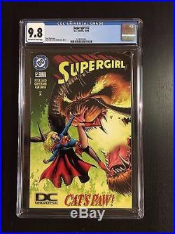 RARE Supergirl #2 1996 CGC 9.8 NM/MT DCU Variant DC Universe Logo
