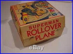 Rare 1940 SUPERMAN ROLLOVER PLANE AIRPLANE BOX ONLY