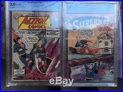 Rare Supergirl Combo, Superman #123 and Action Comics #252, Prototype, 1st App