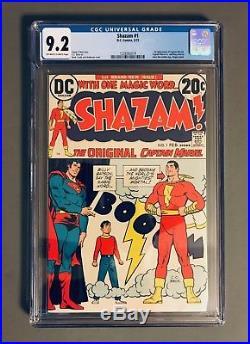 SHAZAM #1 CGC 9.2 NM- 1st DC Appearance of Captain Marvel DC COMICS KEY