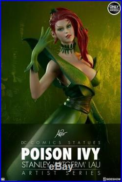 SIDESHOW EXCLUSIVE POISON IVY Stanley Artgerm Lau Artist Series STATUE Batman