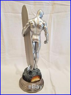SIGNED By STAN LEE & BOWEN SILVER SURFER 03/1000 Painted STATUE Fantastic 4 Bust
