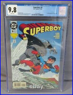 SUPERBOY #9 (King Shark 1st appearance) CGC 9.8 NM/MT DC Comics 1994 White Pages