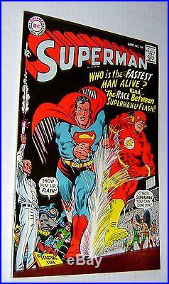 SUPERMAN 199 AUG 1967 NM/NM+ 1st FLASH/SUPERMAN RACE! GORGEOUS UNREAD BOOK