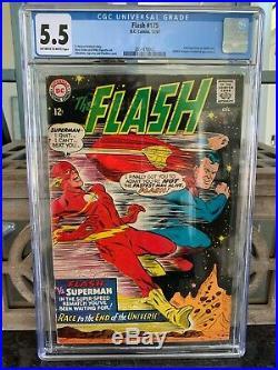 SUPERMAN 199 FLASH 175 CGC 5.5 1st 2nd Superman vs Flash Race 1967