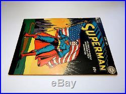 SUPERMAN #24 Higher Grade No restoration Classic Flag Cover 1943 Not CGC 6.0