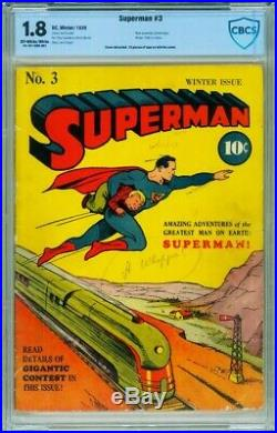 SUPERMAN #3-CBCS 1.8 Golden-Age Comic Book-1940-RARE DC